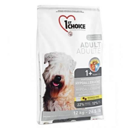 Сухой корм для собак 1st choice Adult Hypoallergenic, гипоаллергенный, утка, 12кг