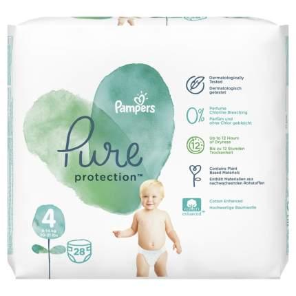 Подгузники Pampers Pure Protection 9-14 кг, размер 4, 28 шт.