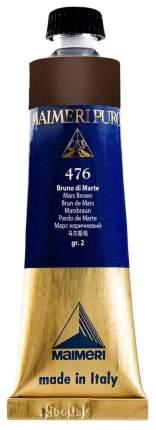 Масляная краска Maimeri Puro 476 марс коричневый 40 мл