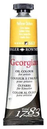 Масляная краска Daler Rowney Georgian охра желтый 75 мл