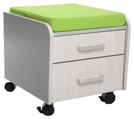 Тумбочка Comf-Pro BD-C2 (цвет обивки: зеленый, цвет каркаса: серый, цвет товара: серый)