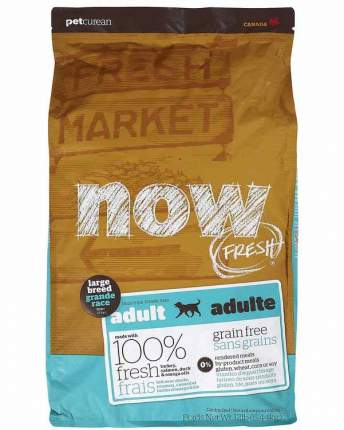 Сухой корм для собак NOW Fresh Adult Large, для крупных пород, индейка, утка, овощи,5,45кг