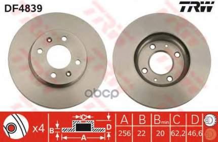 Тормозной диск TRW/Lucas DF4839