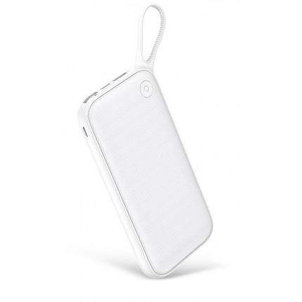 Внешний аккумулятор Baseus Powerful Quick Charge Three Output Lanyard 20000 мА/ч White