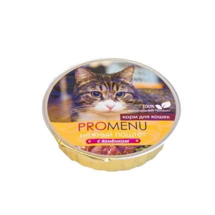 Консервы для кошек Pro Menu Нежный паштет, ягненок, 70г