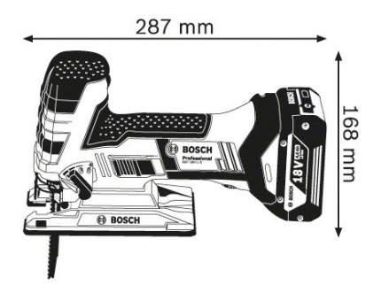 Аккумуляторный лобзик Bosch GST 18 V-LI S 06015A5102