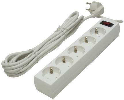Сетевой фильтр Defender ES 5, 5 розеток, 5 м, White