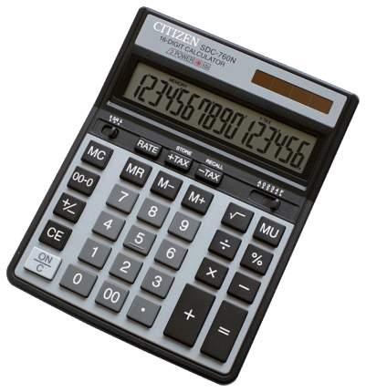 Калькулятор CiTiZEN SDC-760N Черный