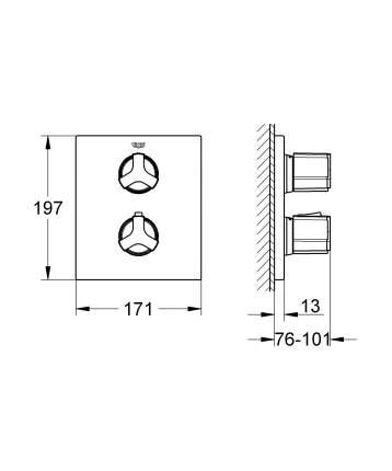 Смеситель для встраиваемой системы Grohe Allure 19446000 серебристый