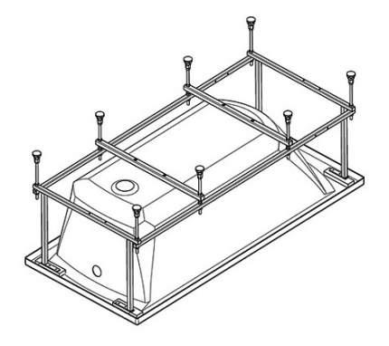 Комплект монтажный Santek для ванны Монако 170х75см белый (WH112421)