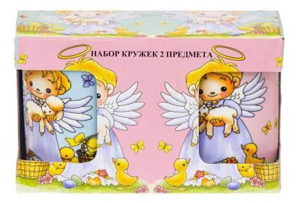 "Набор кружек 2 пр, 280 мл, ""Ангелочки"""