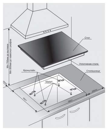 Встраиваемая варочная панель индукционная GEFEST ЭС В СН 4232 К12 White