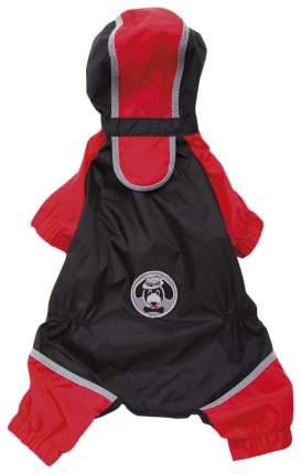 Дождевик для собак Ferplast размер L унисекс, красный, черный, длина спины 31 см