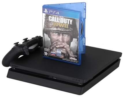 Игровая приставка Sony PlayStation 4 Slim 1Tb Черный + Call of Duty WW II + гарнитура