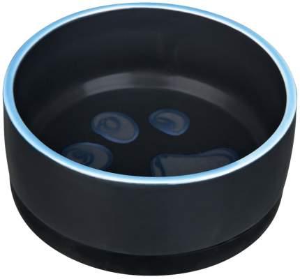 Одинарная миска для кошек и собак TRIXIE, керамика, резина, синий, желтый, 0,3 л