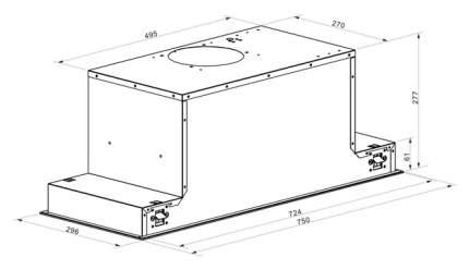 Вытяжка встраиваемая LEX GS Glass 900 White