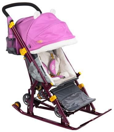 Санки-коляска Ника детям 7-2 Dog Орхидея