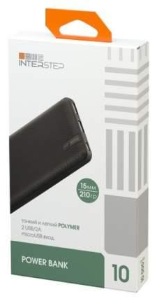 Внешний аккумулятор InterStep PB10PM 10000 мА/ч (IS-AK-PB10POLMI-BLKB201) Black