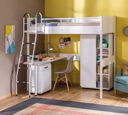 Кровать-чердак Cilek со столом White