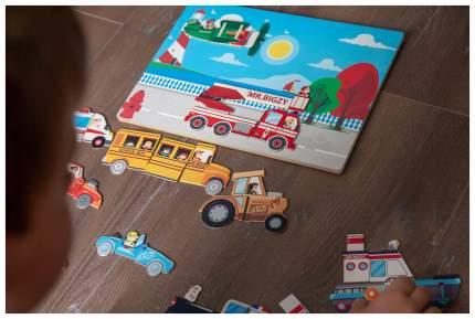 Развивающая игрушка АльДенте Mr. Bigzy Магнитная игра Транспорт