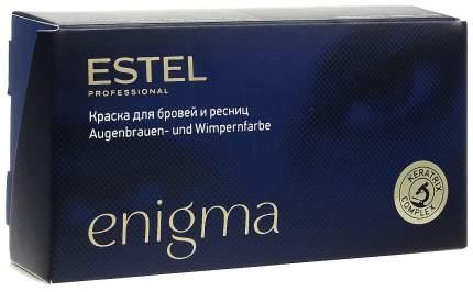 Краска для бровей Estel Enigma Иссиня-черный 2х20 мл