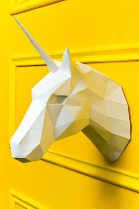 Набор для сборки полигональных фигур: Единорог белый