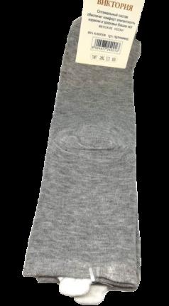 Носки женские высокие, размер 37-41, с хвостиком, серые