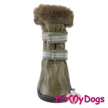 Сапоги для собак FOR MY DOGS, зимние, с резиновой подошвой, оливковые, FMD636-2018 Olive 5