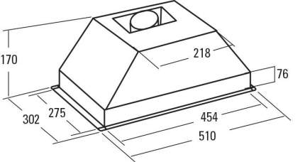 Вытяжка встраиваемая CATA G-45 X /L