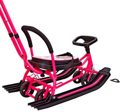 Снегокат 111 Mobile с Т-образным толкателем и колесной базой (розовый)