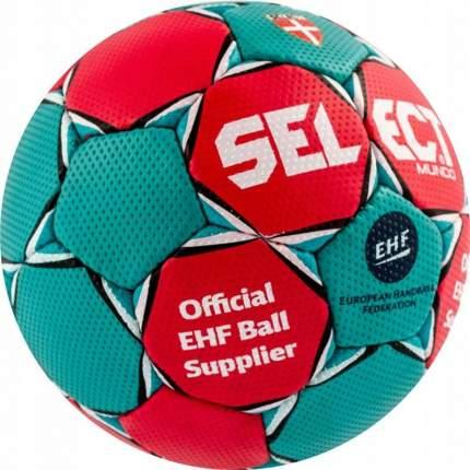Мяч гандбольный Select Mundo, 3, зеленый/красный