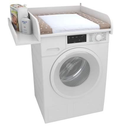 Рамка пеленальная для стиральной машины Polini kids Simple 610, с полкой, белый