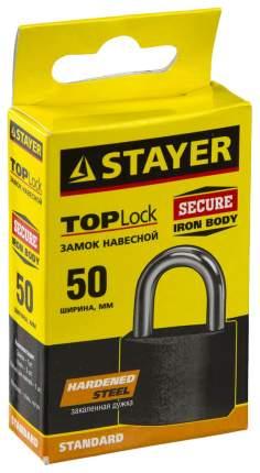 "Замок Stayer ""STANDARD"" навесной, металлический корпус, закаленная дужка, 50 мм"