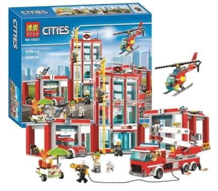 Конструктор пластиковый BELA 10831 Пожарная часть