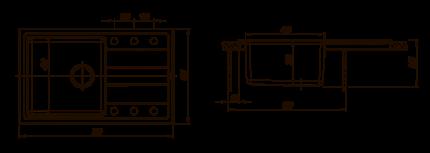 Мойка для кухни комбинированная Florentina Комби 780, песочный