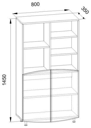 Стеллаж комбинированный Компасс-мебель Капитошка ДК-4 Синий/Ваниль