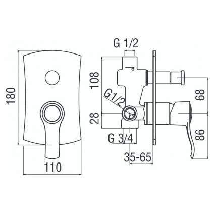 Смеситель для встраиваемой системы Nobili SOFI SI98100CR