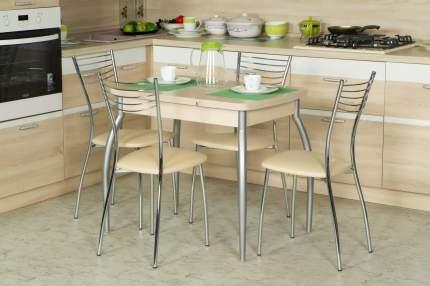 Кухонный стол Hoff 75х90х60 см, серебристый