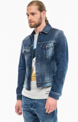 Куртка джинсовая мужская DIESEL синяя 46