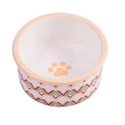 Одинарная миска для собак КерамикАрт, керамика, цветной, 0.6 л