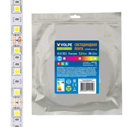 Светодиодная лента Volpe ULS-Q210 5050-30LED/m-10mm-IP20-DC12V-7,2W/m-5M-RGB ULS-Q210
