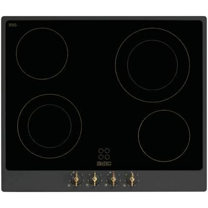 Встраиваемая варочная панель электрическая Smeg P864A-9 Black