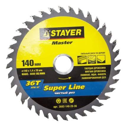 Пильный диск по дереву  Stayer 3682-140-20-36