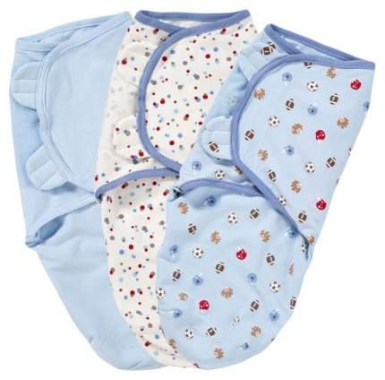 Комплект конвертов на липучке SUMMER INFANT swaddleme®  s/m, 3 шт. голубой/спорт