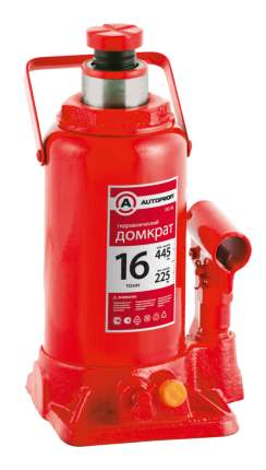 Домкрат гидравлический Autoprofi DG-16 бутылочный 16 т высота подъёма 445 мм