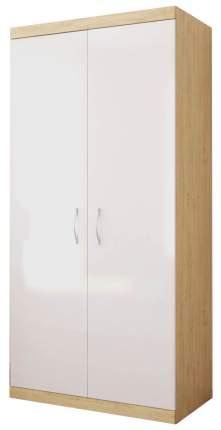 Шкаф Polini Classic двухсекционный Дуб-белый глянец