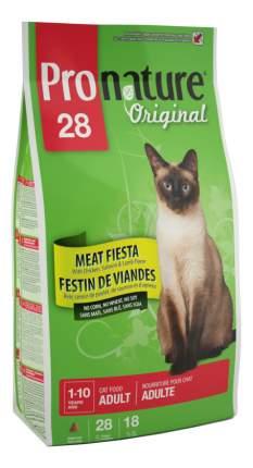 Сухой корм для кошек Pronature Original Мясной праздник, цыпленок, лосось, ягненок, 5,44кг