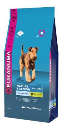 Сухой корм для собак Eukanuba Mature&Senior Large Breed, для пожилых крупных пород, 15кг
