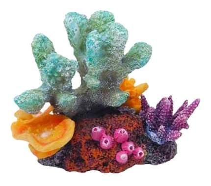 Декорация для аквариума кораллы на рифе 12,5х8,5х9,5см