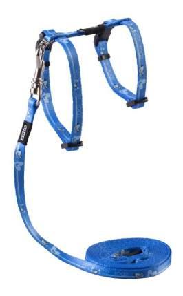 Комплект поводок и шлейка для кошек Rogz KiddyCat XS-8мм 1,8 м (Голубой CLJ207N)